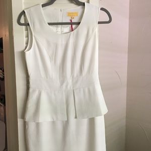 Melao cream cocktail dress NTW
